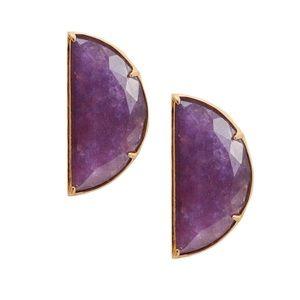 KATE SPADE • Half Moon Scalloped Purple Earrings